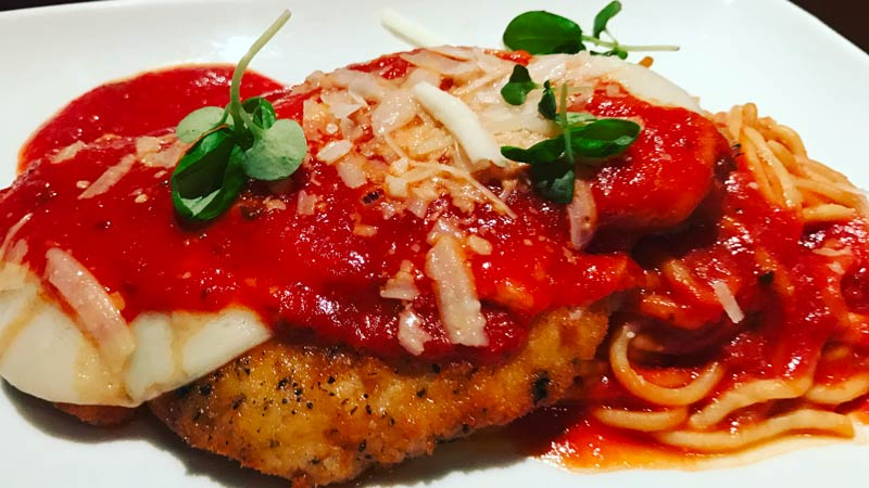 Chicken Parmesan from Trattoria al Forno.