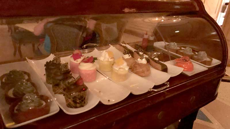 The dessert cart at Be Our Guest