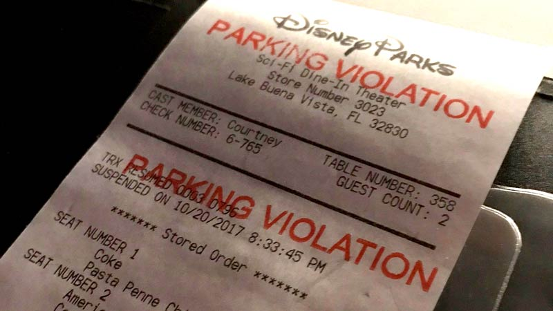 Disney parking violation