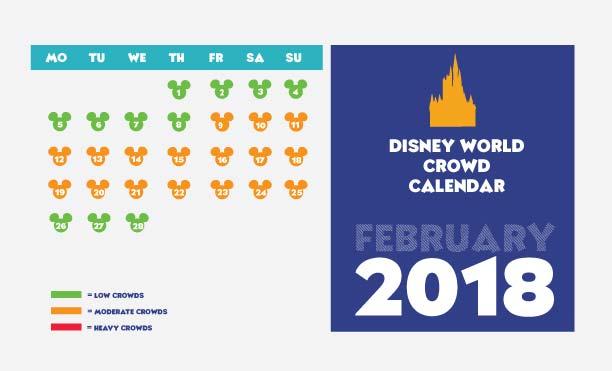 Disney World crowd calendar for February