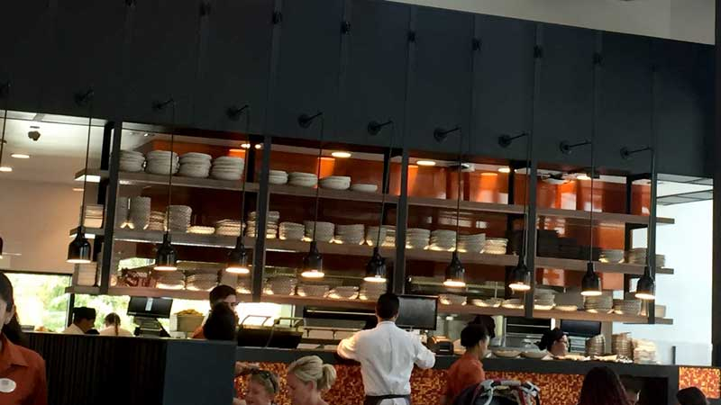 A peak into the kitchen at Frontera Cocina.