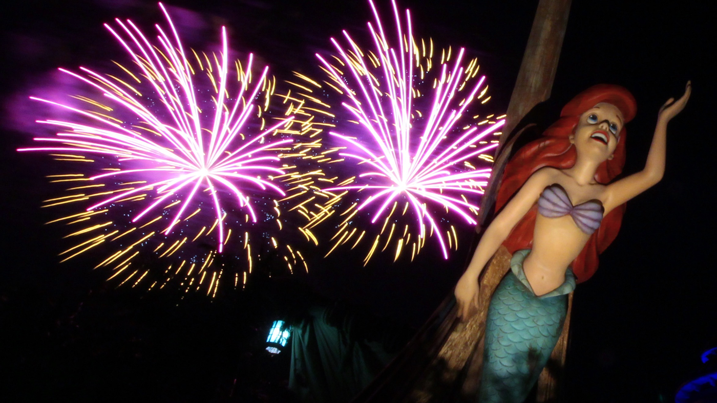 Disney World in April-the little mermaid/fireworks