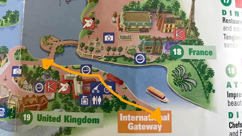 International Gateway is Epcot's second entrance