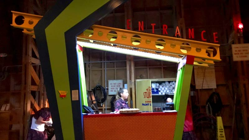 As soon as you enter inside of the Sci-Fi Dine In you will find the check in desk.