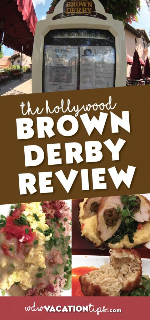I consider the Hollywood Brown Derby the fanciestrestaurant out of the options at Hollywood Studios in Walt Disney World.This upscale signature dining restaurant serves American cuisine.