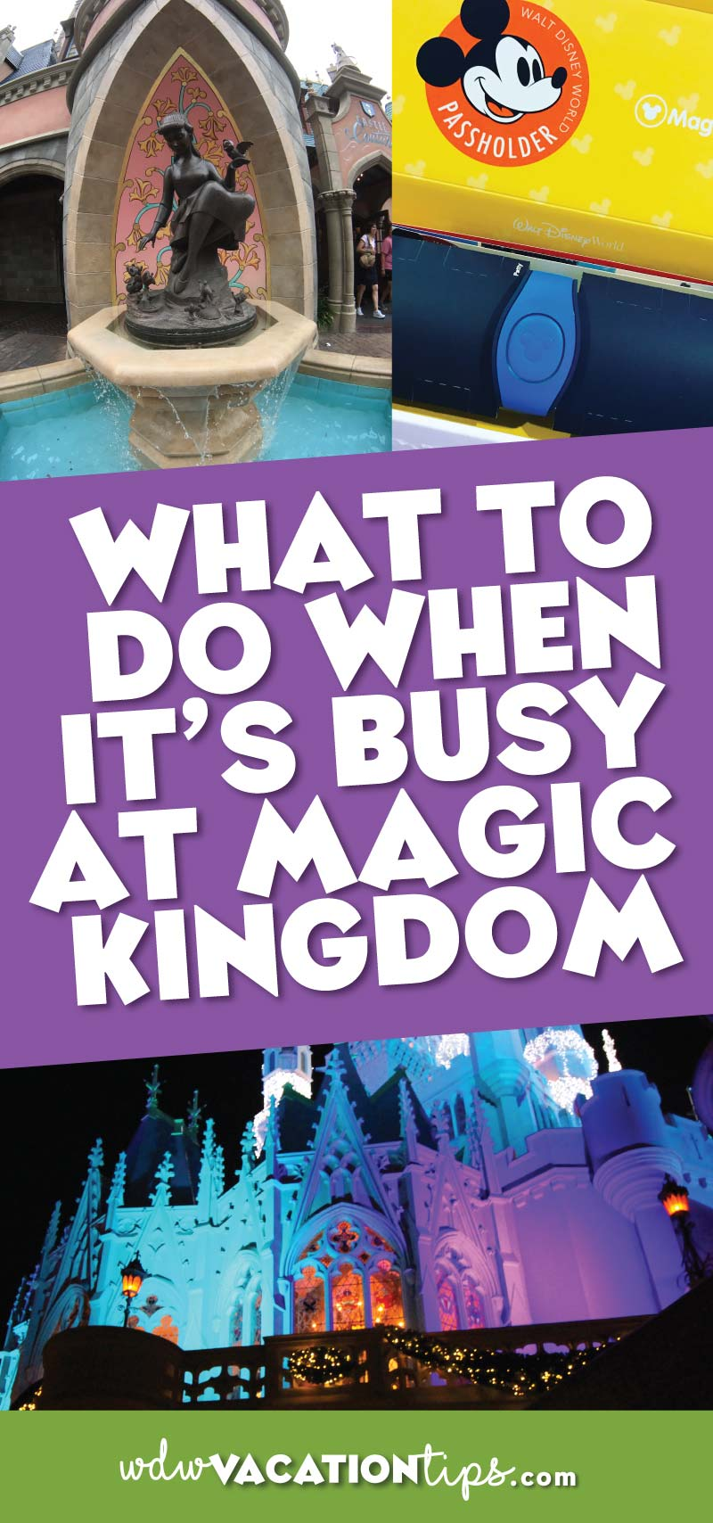 Sometimes you can't help but visit Disney during peak season. We have some tips and ideas for what you should do when it's crowded at the Magic Kingdom.