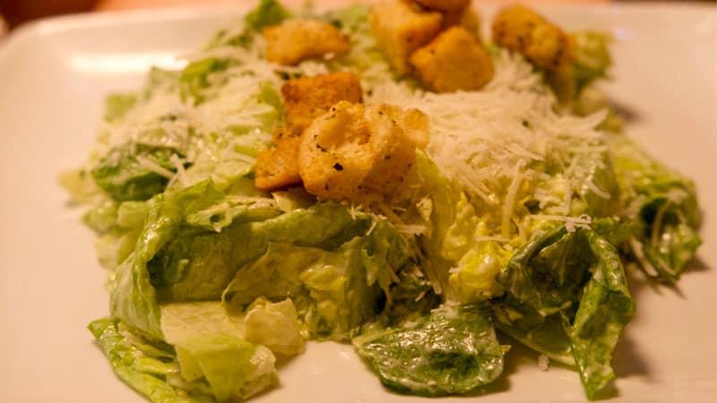 Caesar Salad appetizer Mama Melrose