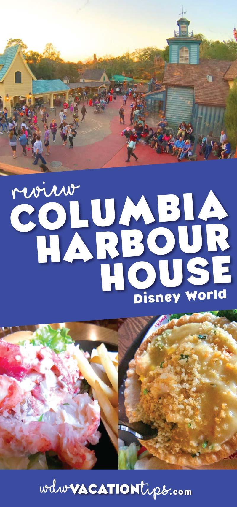 Columbia Harbor House is a quick service restaurant that mostly serves seafood, located in the Magic Kingdom Walt Disney World.