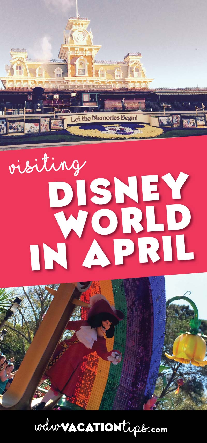 Disney World in April also known as spring break at Disney World. If you are planning a stay at Disney World in the beginning of this month when the crowds will be heavier you are going to want to make sure you are diligent in putting together your plan.