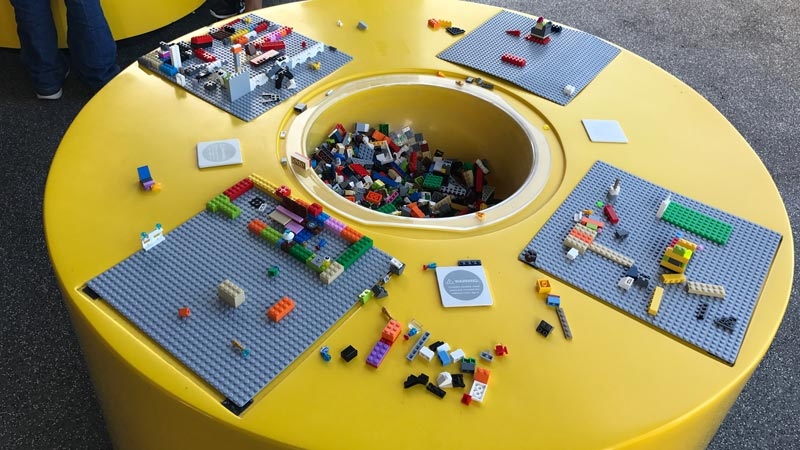 Lego Store build zone.