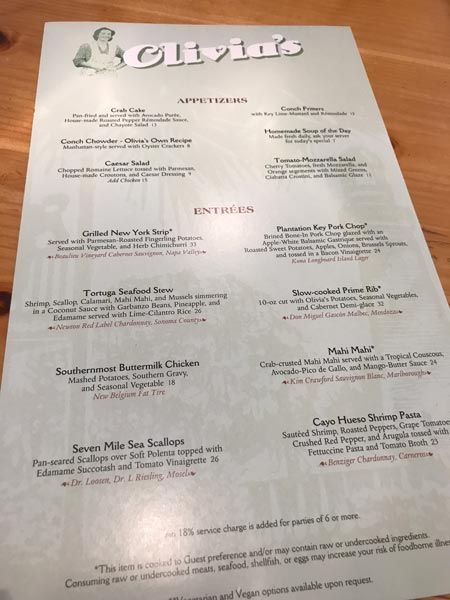 Olivia's Cafe Dinner Review 3