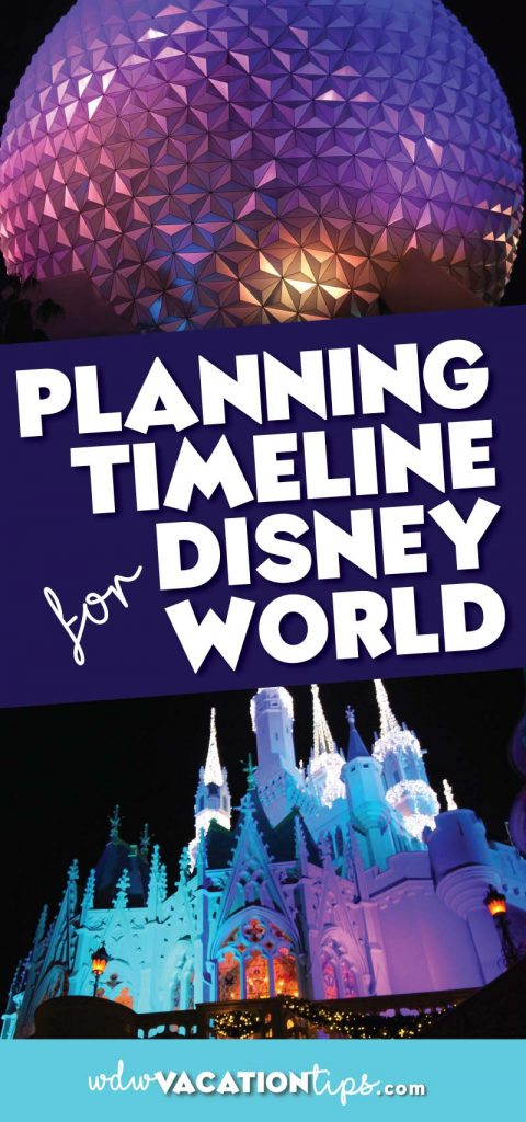 Wondering where to start when planning your Disney World vacation? Don't stress because we have the complete breakdown of the Disney World vacation planning timeline. It's a step by step what you need to accomplish up to 12 months before your vacation.