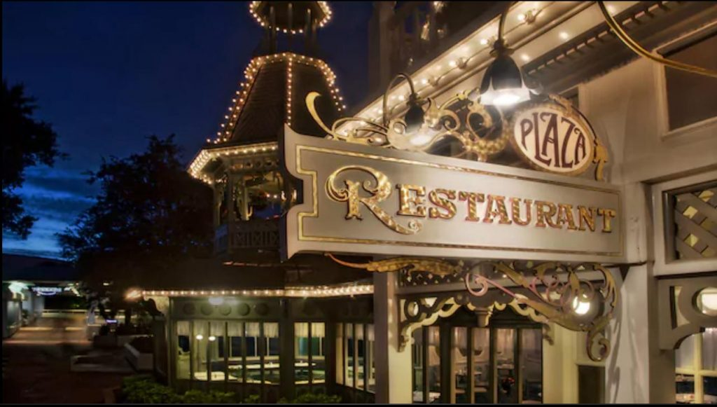 Plaza Restaurant at the Magic Kingdom
