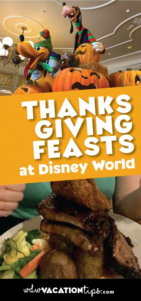 Where you can enjoy a Thanksgiving feast or meal at Disney World.