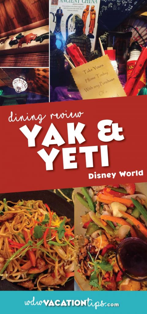 The Animal Kingdom has limited sit-down dining options and Yak and Yeti is one of the better options. The spot serves your traditional Asain dishes that some of us have dubbed as our comfort foods.