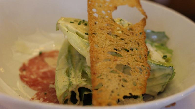 Caesar Salad served at the Yachtsmen Steakhouse