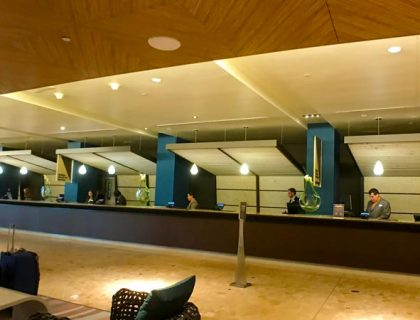 Front Desk at the Contemporary Resort Disney World.