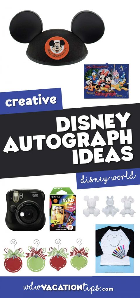 unique and creative ways to collect Disney character autographs.