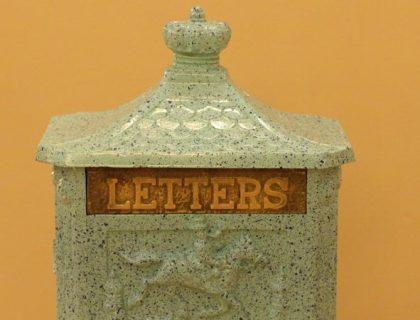 Mailbox inside the lobby of Beach Club, Walt Disney World.
