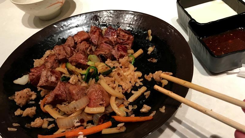 Steak at Teppan Edo