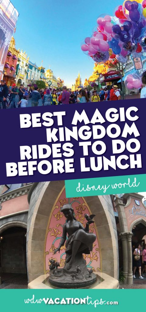 Magic Kingdom Rides before lunch