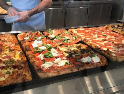 A look at some of the pizza selection at Pizza Ponte