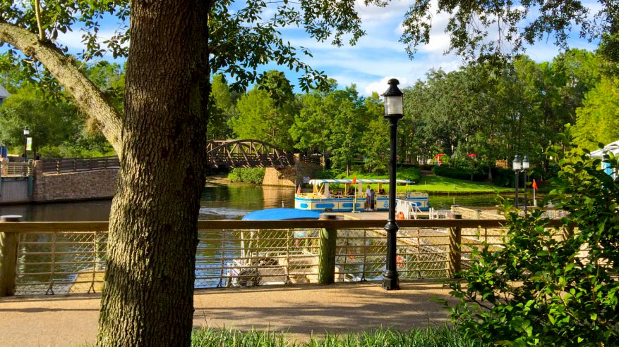Port Orleans Resort boat launch area.