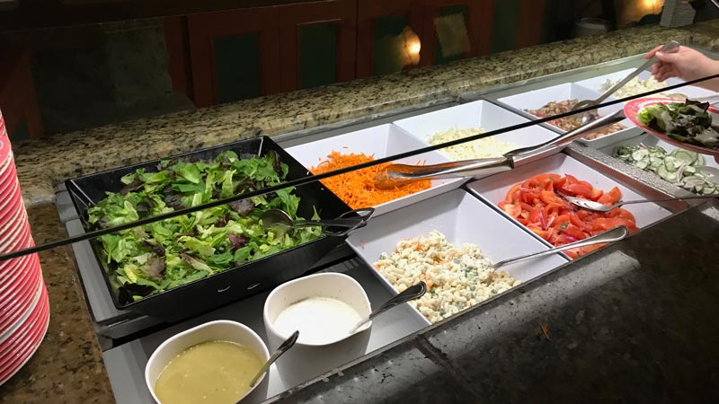 Salad at Biergarten