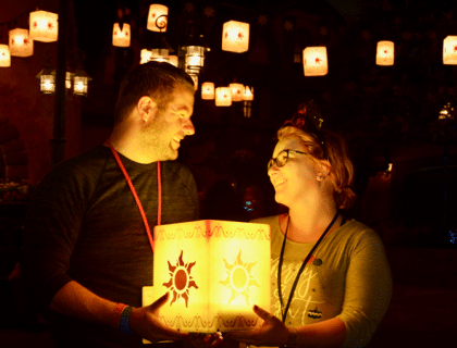 Tangled Lantern Photopass Spot at Magic Kingdom