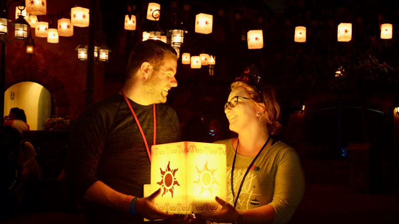 Must Do PhotoPass Spots at Disney World Tangled Lantern Photopass Spot at Magic Kingdom