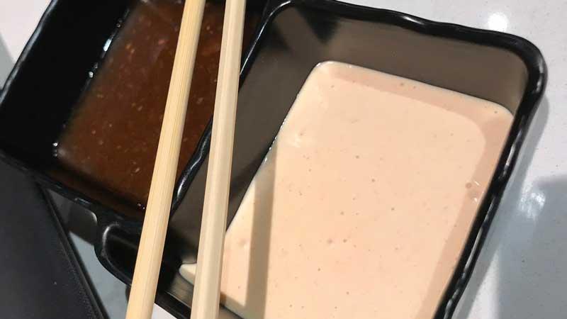 Teppan Edo dipping sauces
