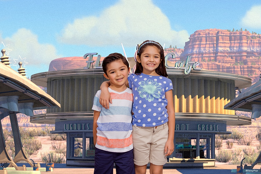 Disney Springs Virtual Backgrounds Photopass Experience.