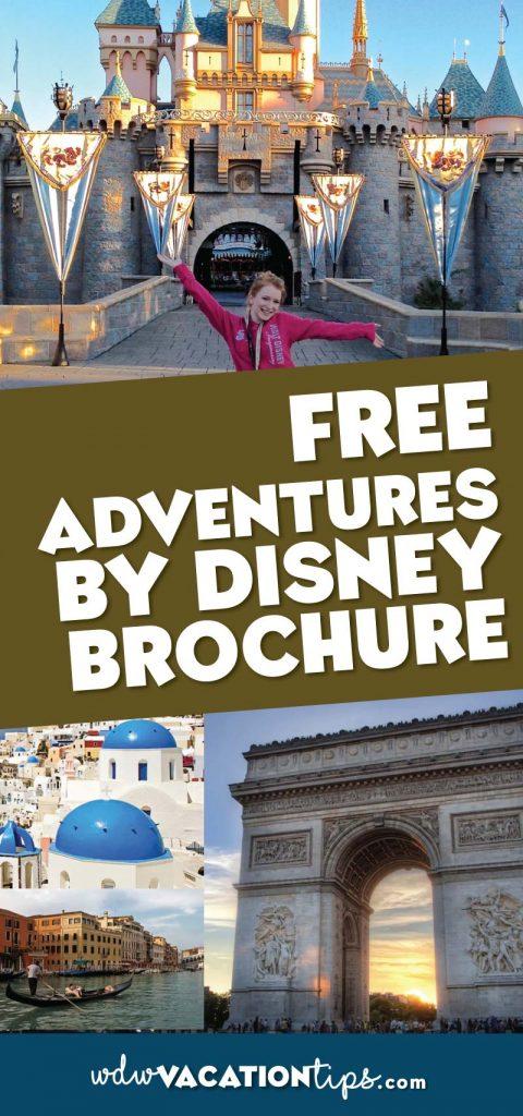 Free Adventures by Disney Brochure
