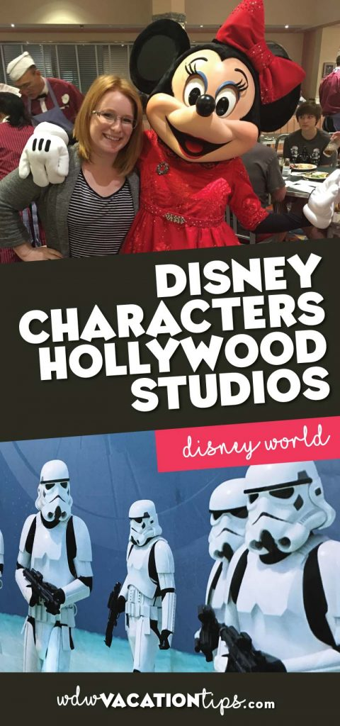 Disney characters at Hollywood Studios