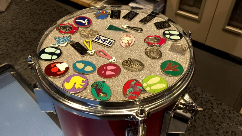 Pin Drum at Rock n Roller Coaster