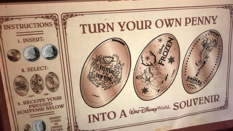Pressed Pennies Disney World