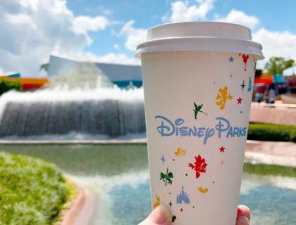Starbucks latte Imagination Pavillion Epcot
