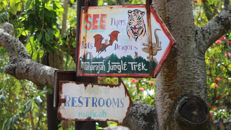 Animal Kingdom jungle trek sign