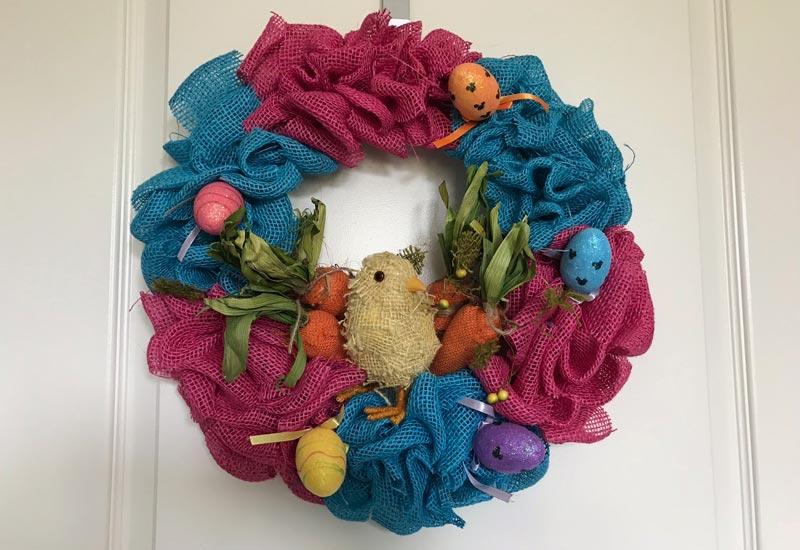 DIY Disney Easter Burlap Wreath 3