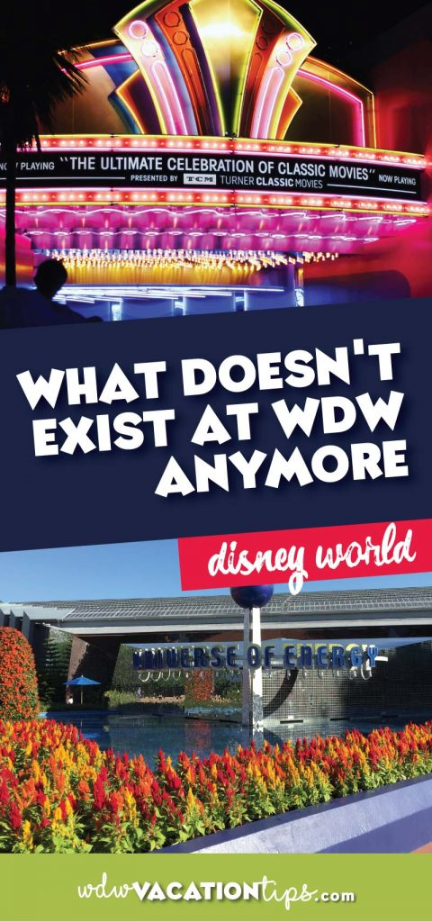 What doesn't exist at Disney World anymore