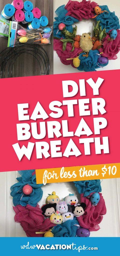 DIY Disney Easter Burlap Wreath