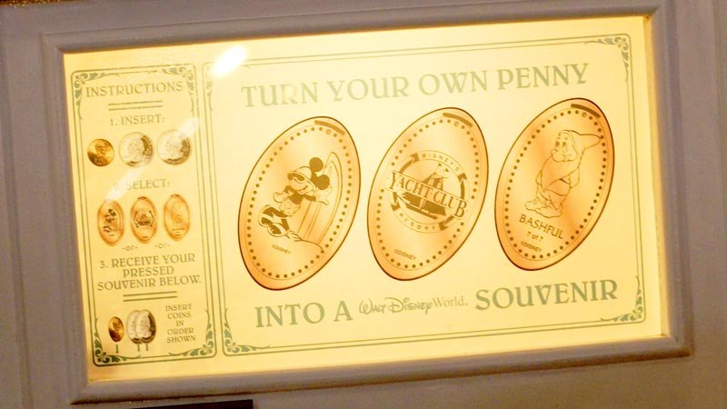Where to Find Pressed Penny Machines in Disney World 1