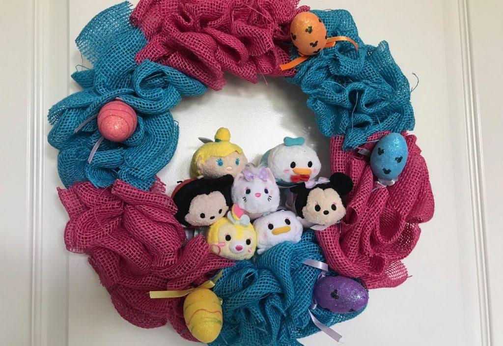 Tsum Tsum Disney Easter Burlap Wreath