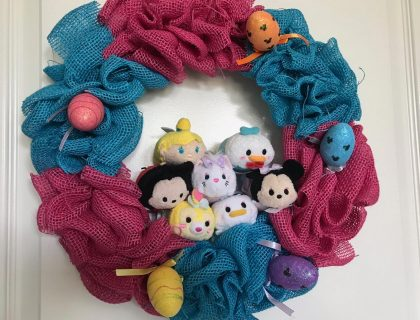 Tsum Tsum Disney Easter Burlap Wreath