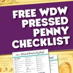 Free WDW Pressed Penny Checklist