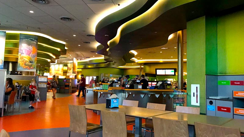 Food court at the Art of Animation Resort