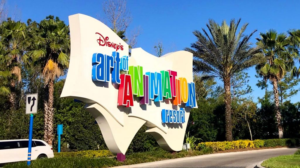 Art of Animation Resort Sign