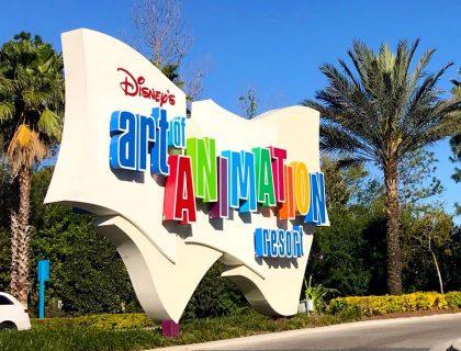 Art of Animation Resort Sign