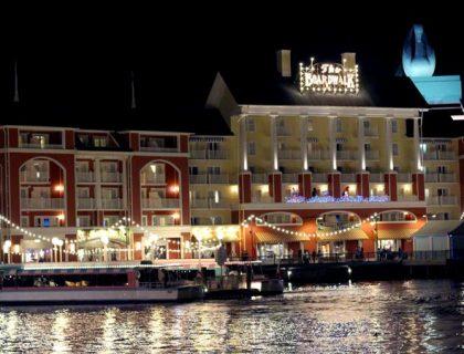 Boardwalk resort at night Walt Disney World