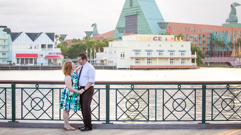 couple portrait at boardwalk disney world